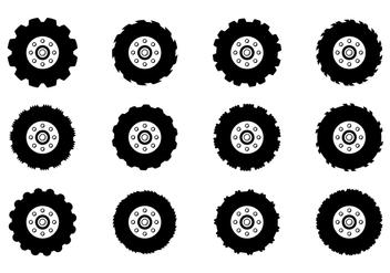 Tractor Tire Vector - vector #373963 gratis
