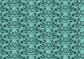 Free Vector Teal Western Flourish Pattern - Free vector #374253