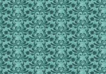 Free Vector Teal Western Flourish Pattern - vector #374253 gratis
