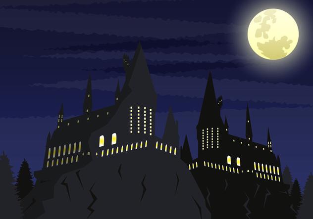 Hogwarts School Vector Ilustration - Free vector #374513