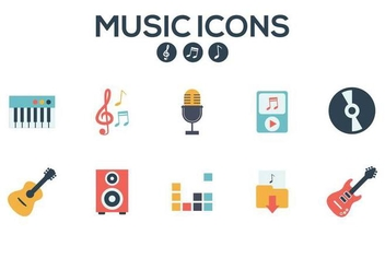 Free Music Icons Vector - Kostenloses vector #374753