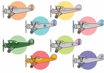 Biplane Vector Set - Free vector #374783