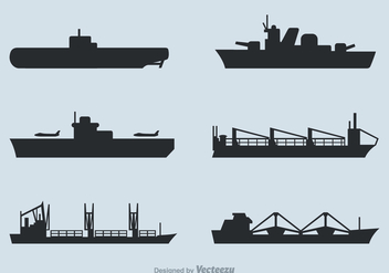 Free Ships Silhouettes Vector Set - Kostenloses vector #374823