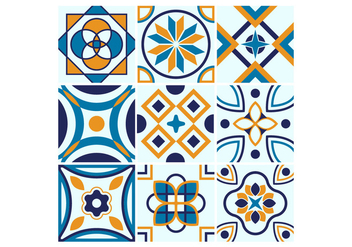 Free Portuguese Tile Vectors - Free vector #374833