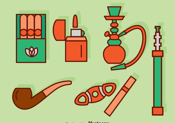 Smoking Icons Set Vector - Free vector #375033