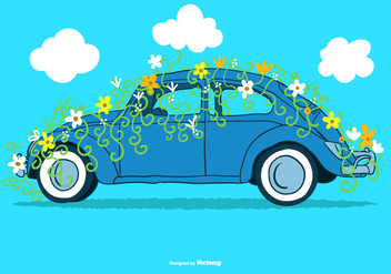 Flower Power VW Vector - Free vector #375073