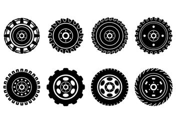 Free Tractor Tire Vectors - vector #375103 gratis