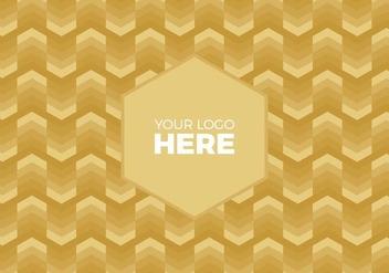 Free Vector Gold Chevron Logo Background - Free vector #375113