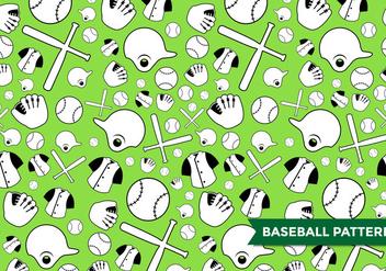 Baseball Pattern Vector - Free vector #375133