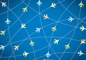 Flight Plane Background - vector #375343 gratis