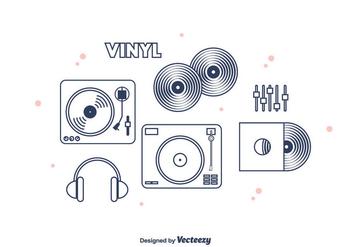 Vinyl Vector Icons - Kostenloses vector #375453