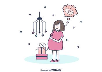 Free Pregnant Mom Vector - бесплатный vector #375573