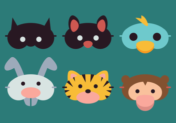 Vector Sleeping Mask Animals - vector gratuit #375873