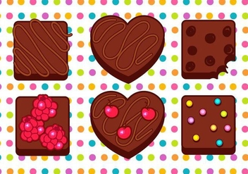 Brownie Vector Set - Free vector #375923