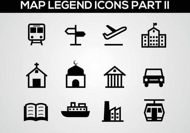 Free Map Legend Part II Vector - Free vector #375983