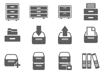 Free File Cabinet Icon Vectors - бесплатный vector #376313