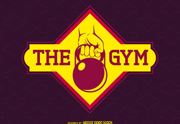 Bright gym label logo - Free vector #376543