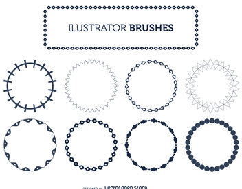 Illustrator frame brushes set - vector gratuit #376893