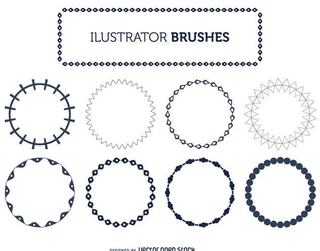 Illustrator frame brushes set - Kostenloses vector #376893