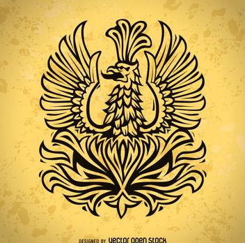 Phoenix bird illustration - Free vector #376903