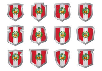 Peru Flag Vector - Free vector #377023