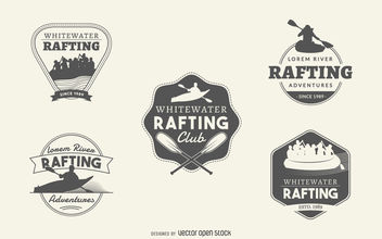 Rafting logo collection - vector gratuit #377053