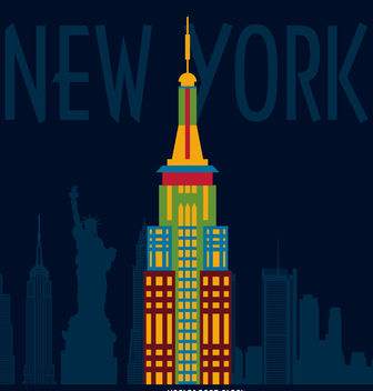 New York illustration poster - vector gratuit #377073
