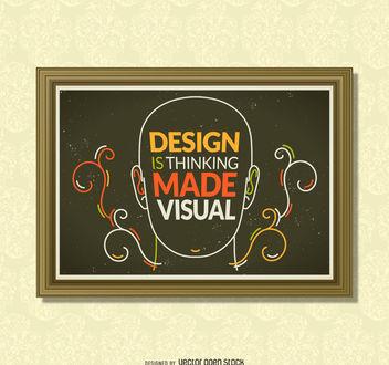 Inspiring design poster - Kostenloses vector #377093