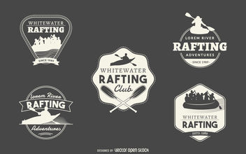 Rafting logo collection - vector gratuit #377103