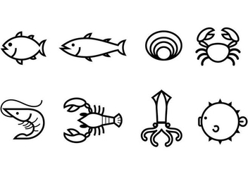 Free Seafood Icon - Free vector #377173
