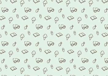Summer Icons Pattern - vector gratuit #377253