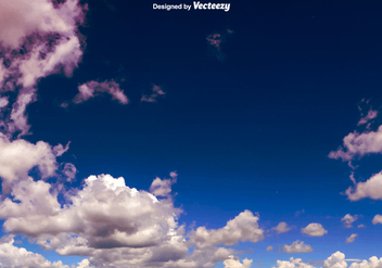Vector Dark Blue Sky With Clouds - vector gratuit #377283