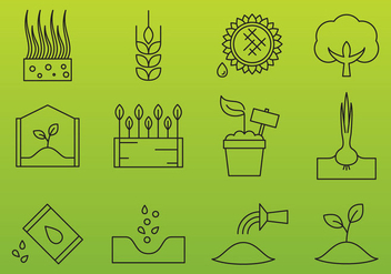 Agriculture Industry Icons - vector #377293 gratis