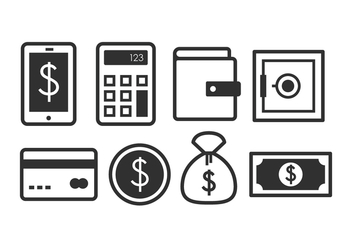 Free Banking Icon Set - vector gratuit #377333