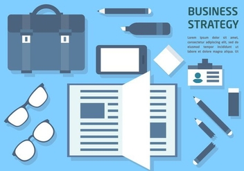 Free Flat Business Office Vector Elements - Kostenloses vector #377383