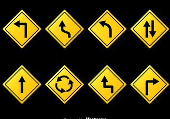 Road Signs Collection Vector - Free vector #377593