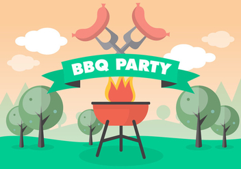Free Bbq Picnic Vector Background - Free vector #377693