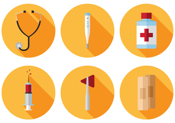 Vector Medical Icon Set - vector gratuit #377813
