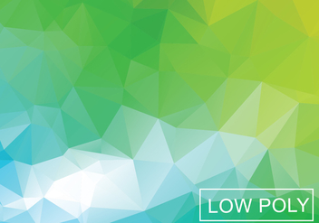 Green Geometric Low Poly Style Illustration Vector - Free vector #377823