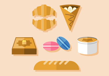 Vector French Dessert - vector gratuit #377853