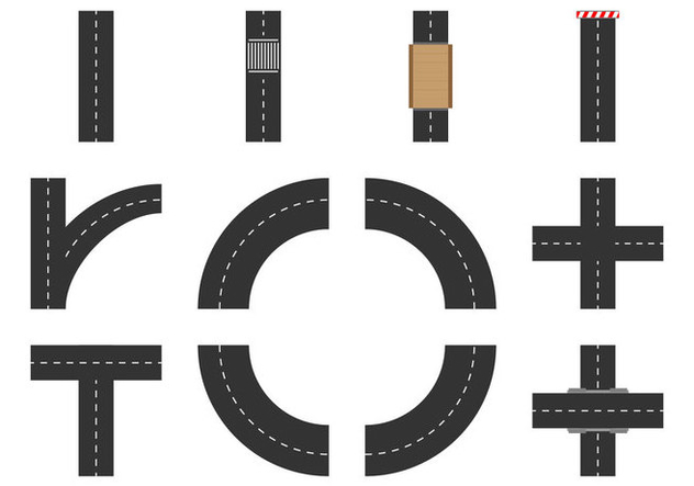 Free Road Element Vector - бесплатный vector #378113