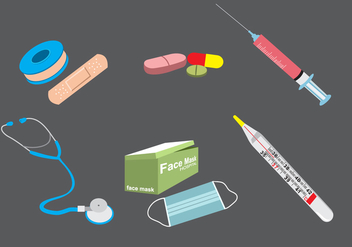 Medical Kit Vector - Free vector #378143