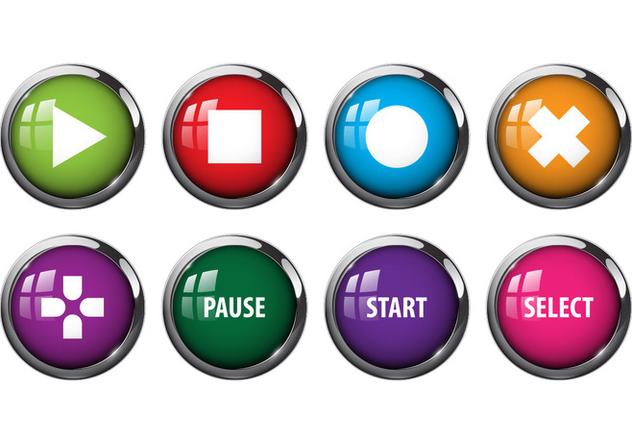 Free Arcade Button Vectors - vector #378263 gratis