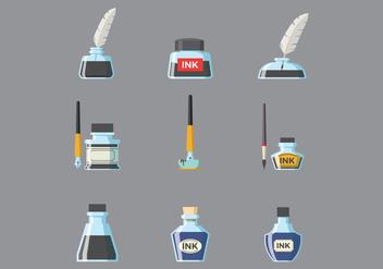 Free Ink Pot Vector - vector #378313 gratis