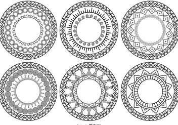 Decorative Circle Shapes - Free vector #378343