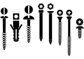 Black Hardware Vector Set - vector gratuit #378633