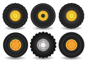 Tractor Tire Vector - Free vector #378853