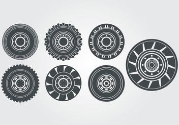 Tractor Tire Vector - Free vector #378863