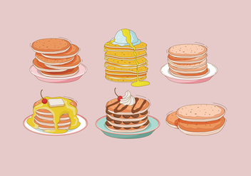 Pancake Vector - Free vector #378893