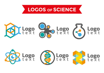 Neuron Science Logos Templates - Kostenloses vector #378943